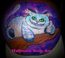 Cheshire Cat belly paint 2014