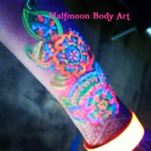 Neon painted henna Watermark
